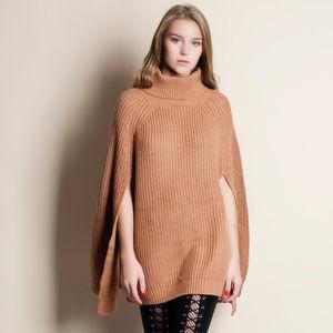 Cape Turtleneck Sweater